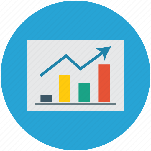 graph, increasing, progress, statistics icon
