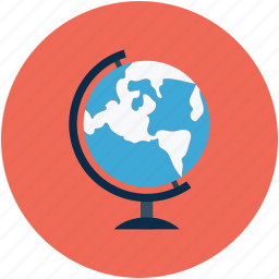 earth, earth globe, globe, school globe icon