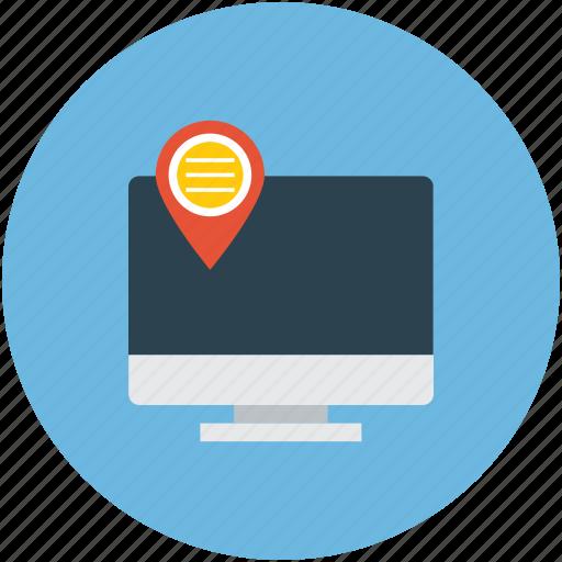 modern gadget, modern navigation, navigation concept, navigation on internet icon