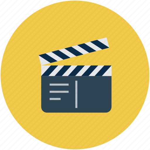 cinema, clapper, movie, video icon