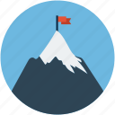 achievement, achievement concept, flag on mountain, goal achievement icon