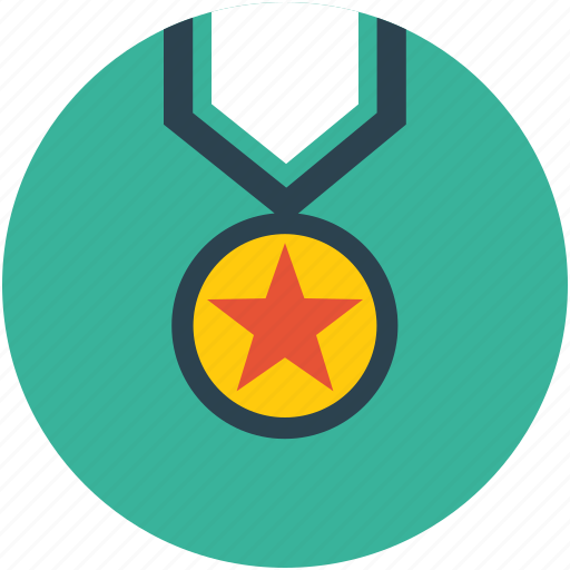 gold medal, golden medal, medal, star medal icon