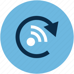 refresh, rss concept, rss sign, rss symbol icon
