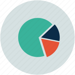 analytics, chart, pie, pie chart icon