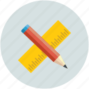 design, edit, pencil, ruler icon