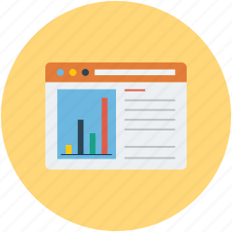 analytics, statistics, webpage, website icon