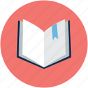 book, bookmark, open, open book icon
