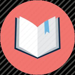 book, bookmark, open, open book icon
