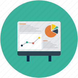 chart, easel, report, statistics icon