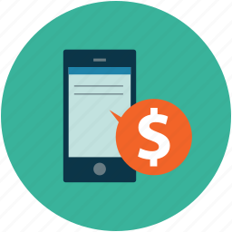 dollar sign, online business, smartphone, tablet pc icon