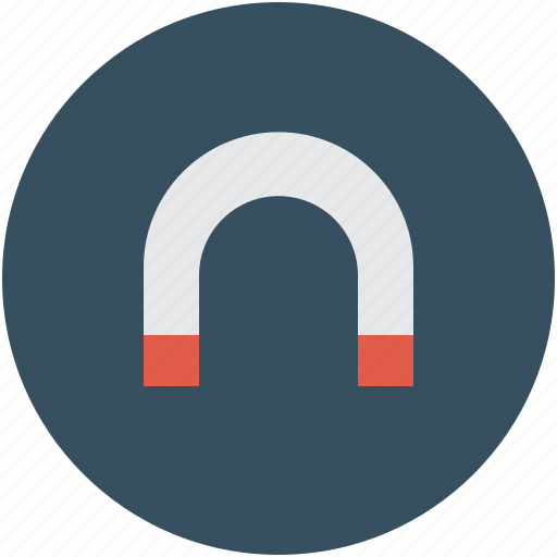 Magnet, horseshoe magnet, magnetic, power icon - Download on Iconfinder