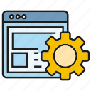 cog, gear, network, optimization, seo, setting, web icon
