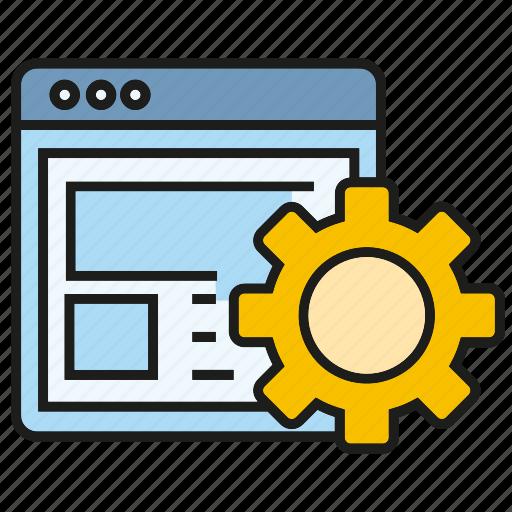 cog, gear, network, optimization, seo, setting, web icon