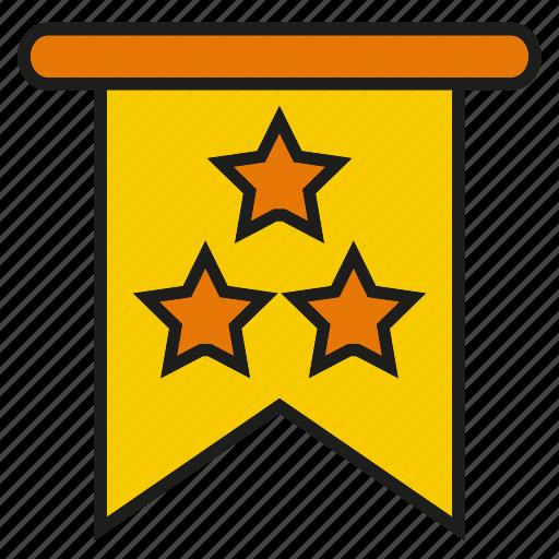 badge, book mark, emblem, label, rank, star icon