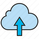 arrow, cloud, internet, network, upload icon