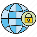 global, globe, key, lock, world, world wide icon