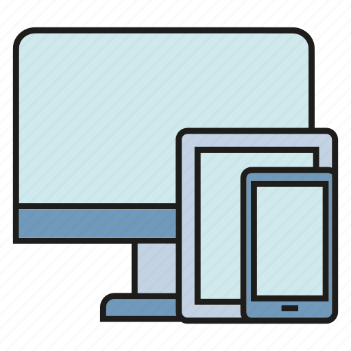 computer, gadget, mobile, phone, responsive, screen, tablet icon