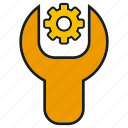 bolt, fix, repair, setting, tool, wrench icon