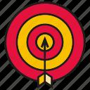 arrow, dart, focus, game, goal, target