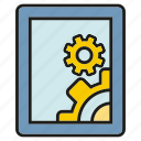 developer, gadget, mobile, operation, phone, program, setting icon