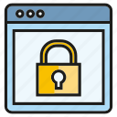 internet, key, lock, protect, secure, web icon