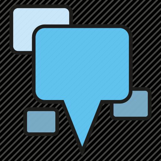 bubble, chat, communicate, speech, talk icon