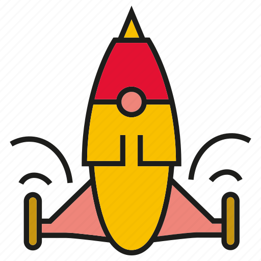 fire, fly, launch, rocket, spaceship, startup icon