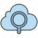 cloud computing, internet, network, search, search engine, seo icon
