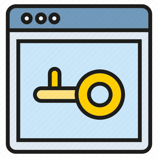 internet, lock, protect, secure, web security icon