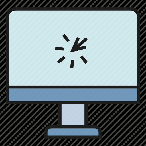 click, computer, desktop, pointer, screen icon