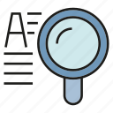 keyword, magnifier glass, search, search engine, view icon