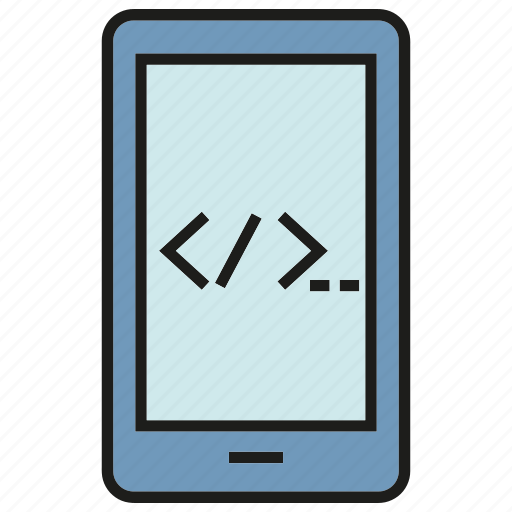 coding, electronic, gadget, mobile, phone, programming, software icon