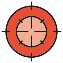 accuracy, dart, focus, goal, shoot icon