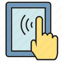 click, hand, mobile, phone, tablet, touch icon
