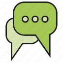 chat, communicate, forum, speech bubble, talk icon