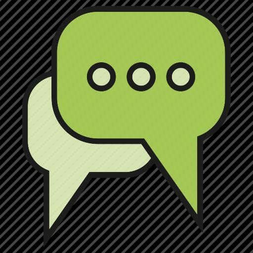chat, communicate, forum, speech bubble, talk icon