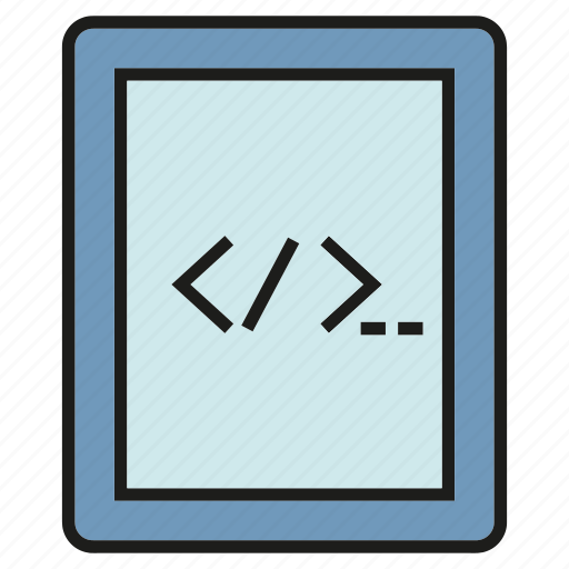 coding, developer, gadget, programming, software, tablet icon