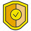 assure, guarantee, protect, secure, shield icon