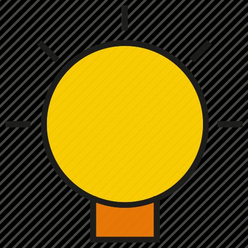 creative, idea, light, light bulb icon