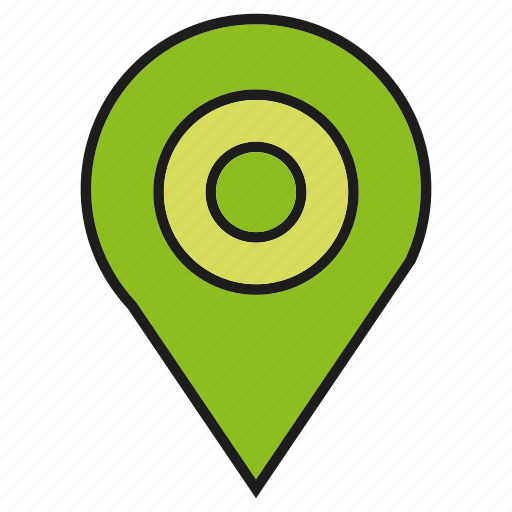 location, map pin, pin, pointer icon