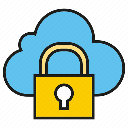 cloud computing, cloud secure, internet, key, lock, network icon