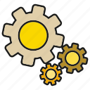 cog, gear, machine, rotate icon