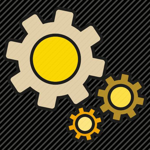 cog, gear, machine, rotate icon