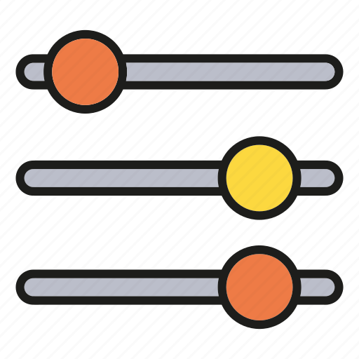 equalizer, scale icon