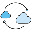 cloud, cloud computing, internet, network icon