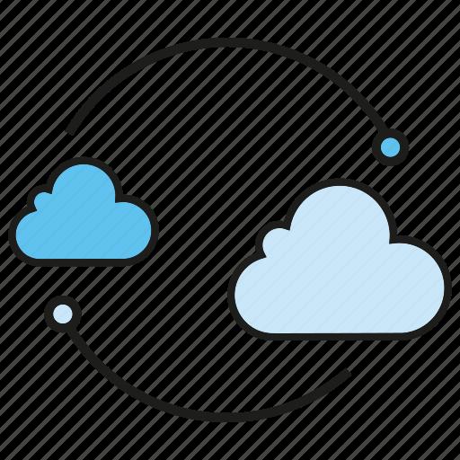 cloud, cloud computing, internet, network icon