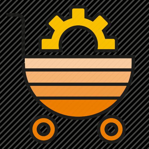 buy, cart, cog, gear, shopping cart icon
