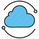 backup, cloud, cloud computing, internet, network, server icon