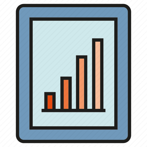 chart, gadget, graph, mobile, phone, stats icon