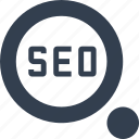 advanced, glass, magnifying, marketing, optimization, search, seo, strategy icon